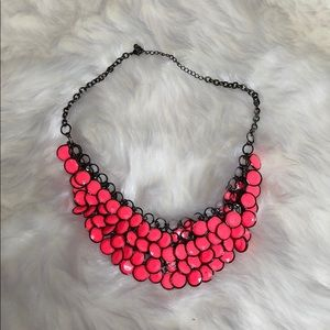 Express Neon Coral Necklace